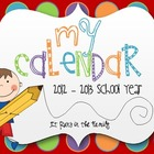 My Calendar: A Monthly Calendar for Teachers