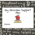 My Classroom Support Plan