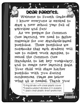 My Common Core Fourth Grade Standards-Based Notebook