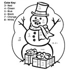 My Count and Color Snowman - Winter/Christmas (Subtraction