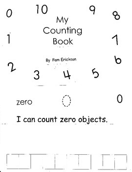 My Counting Book 0-10- a math guided reading book