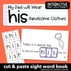 "Interactive Sight Word Reader ""My Dad will Wear his Handso"