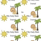 My Dailly Math Journal Labels: Jungle Theme Freebie!