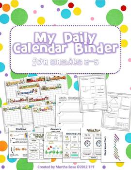 {My Daily Calendar Math Binder} Grades 3-5
