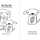 "My Dog Dot (B&W) ""OT"" word family mini book"