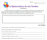 My Dream Quinceañera: Planning Project