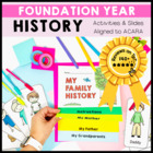 My Family Foldable Booklet Prep ACARA History