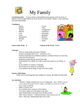 My Family curriculum
