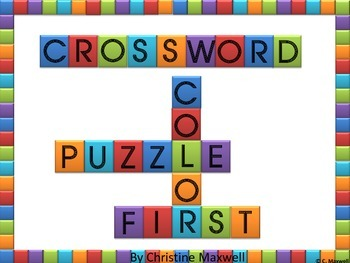 Free! My First Crossword Puzzle