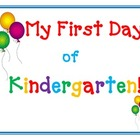 My First Day of Kindergarten Cute