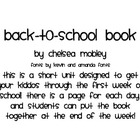 My First Week of First Grade Book