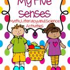 My Five Senses- Math, Literacy and Science Activities