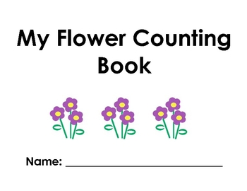My Flower Counting Book - Math Counting 1-10