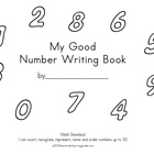 My Good Number Writing Book to 10 in D'Nealian