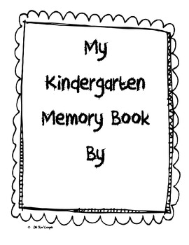 My Kindergarten Memory Book!