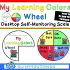 My Learning Colors Wheel Desktop Self Monitoring Scale