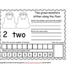 My Little Monsters 1-10 booklet freebie!!!!