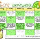My  May Homework Calendar