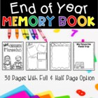 My Memory Book for Kindergarten, First, & Second Grades!