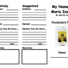 My Name Is Maria Isabel Vocabulary Foldable