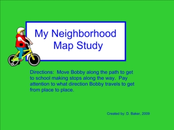 My Neighborhood Map Study Smartboard Lesson