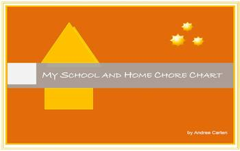 My School and Home Chore Chart