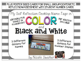 My Self Reflection Desktop Name Tags + POSTERS!!! Color &