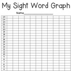My Sight Word Graph for Student Data Notebooks
