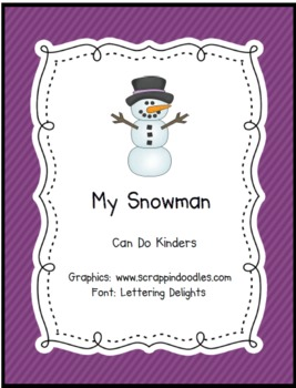 My Snowman Emergent Reader