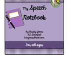 My Speech Notebook (For Speech Therapy  Students)