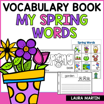 My Spring Words Vocabulary Booklet