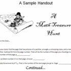 My Students' Favorite Math Scavenger Hunt Review Game