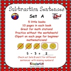 My Subtraction Number Sentences - Set A