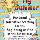 My Summer  ~ A Writing Project for the Beginning or End of