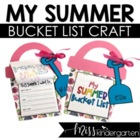 My Summer Bucket List Writing and Craft