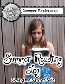 My Summer Reading Log with Bonus Sight Word Game