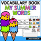 My Summer Words Vocabulary Booklet