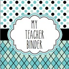 My Teacher Binder Blue and Black Editable