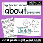 &quot;My Teacher Knows About Everything&quot; Interactive Sight Word Reader