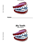 My Teeth book - Dental Health poem and easy reader