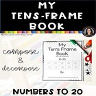 My Ten's Frame Book 11-20 Common Core Base Ten