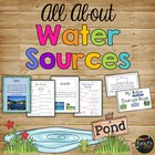 My Water Sources Book Rivers, Lakes, Oceans First & Second Grade
