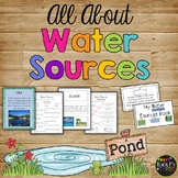 All About WATER SOURCES - Book, Game, Posters & Worksheets