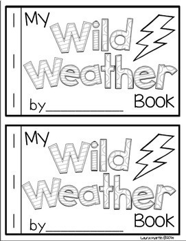 My Weather Words Vocabulary Booklet