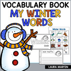 My Winter Words Vocabulary Booklet