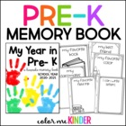 My Year in Pre- K: A Memory Booklet