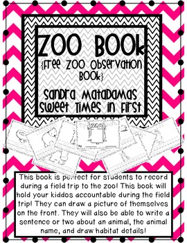 My Zoo Book FREEBIE