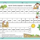 Myrtle Turtle&#039;s Consonant + le Word Game Literacy Station 
