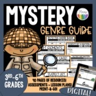 Mystery Genre Novel Study-Story Elements, Vocabulary, Asse