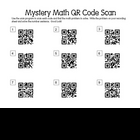 Mystery Math QR Scan Codes